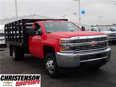 2017 Silverado 3500 Regular Cab DRW, Monroe Work-A-Hauler II Platform Stake Bed #70723 - photo 3