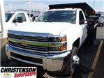 2017 Silverado 3500 Regular Cab DRW 4x4, Monroe MTE-Zee Dump Dump Body #70833 - photo 1