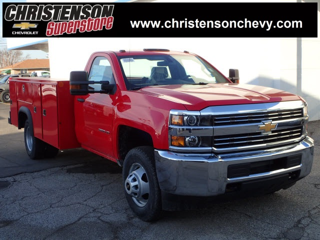 2018 Silverado 3500 Regular Cab DRW 4x4,  Monroe MSS II Service Body #80696 - photo 1