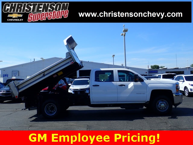 2018 Silverado 3500 Crew Cab DRW 4x4,  Monroe Dump Body #80991 - photo 3