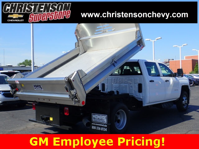 2018 Silverado 3500 Crew Cab DRW 4x4,  Monroe Dump Body #80991 - photo 2
