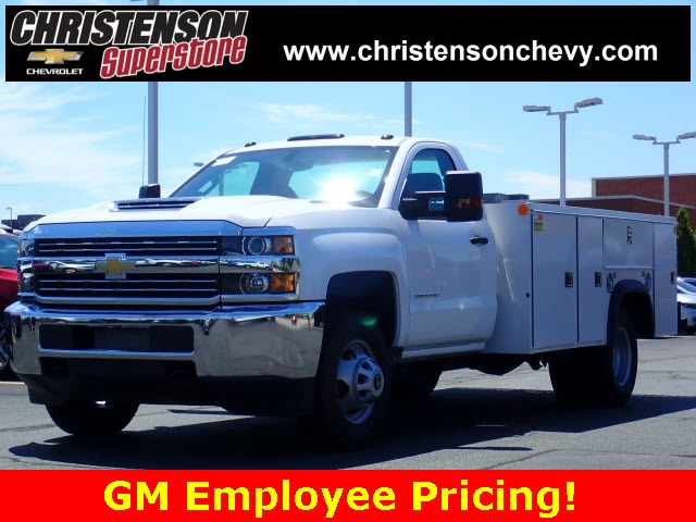 2018 Silverado 3500 Regular Cab DRW 4x4,  Monroe MSS II Service Body #81226 - photo 1