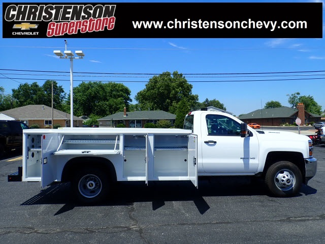 2018 Silverado 3500 Regular Cab DRW 4x4,  Monroe Service Body #81228 - photo 4