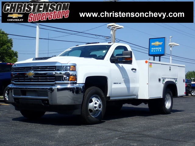 2018 Silverado 3500 Regular Cab DRW 4x4,  Monroe MSS II Service Body #81300 - photo 1