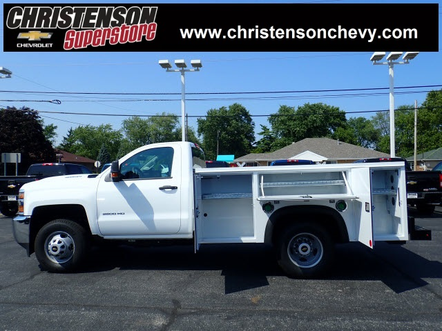 2018 Silverado 3500 Regular Cab DRW 4x4,  Monroe MSS II Service Body #81300 - photo 2