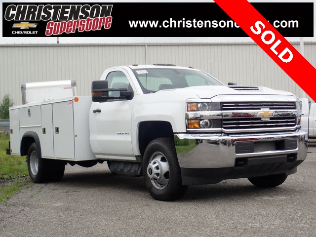 2018 Silverado 3500 Regular Cab DRW 4x4,  Monroe Service Body #81301 - photo 4