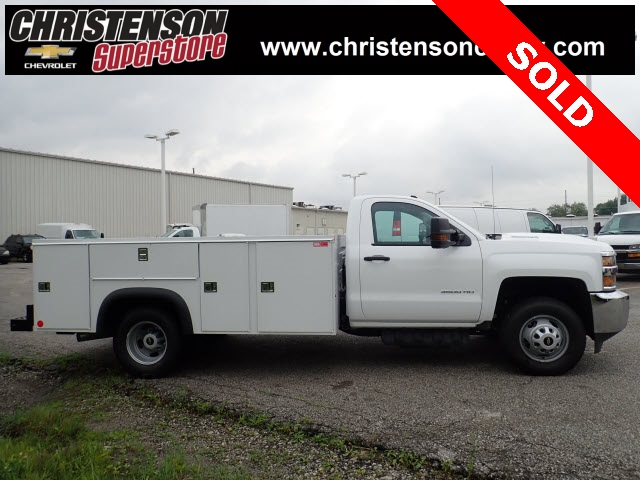 2018 Silverado 3500 Regular Cab DRW 4x4,  Monroe Service Body #81301 - photo 5