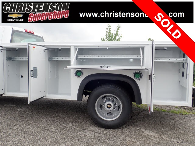 2018 Silverado 3500 Regular Cab DRW 4x4,  Monroe Service Body #81301 - photo 8
