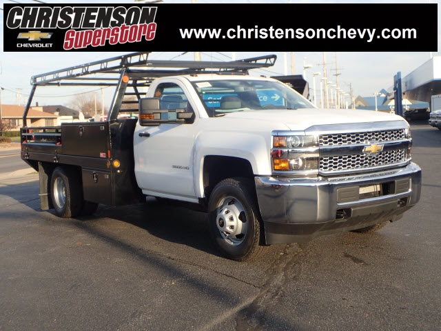 2019 Silverado 3500 Regular Cab DRW 4x4,  Freedom ProContractor Body #90234 - photo 1