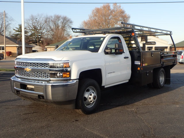 2019 Silverado 3500 Regular Cab DRW 4x4,  Freedom Contractor Body #90234 - photo 4
