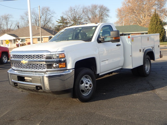 2019 Silverado 3500 Regular Cab DRW 4x4,  Monroe Service Body #90235 - photo 4