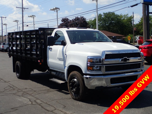 2019 Silverado Medium Duty DRW 4x2,  Monroe Versa-Line Stake Body Stake Bed #90957 - photo 1