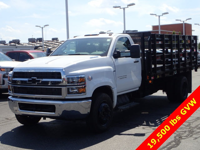2019 Silverado Medium Duty DRW 4x2,  Monroe Versa-Line Stake Body Stake Bed #90957 - photo 3