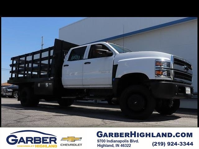 2019 Chevrolet Silverado 5500 Crew Cab DRW 4x4, Reading Stake Bed #HL91152 - photo 1