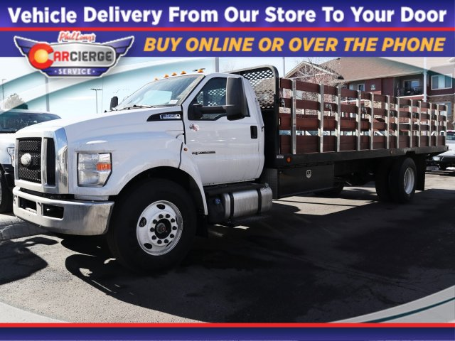 2019 F-650 Regular Cab DRW 4x2, Scelzi Stake Bed #F13542 - photo 1