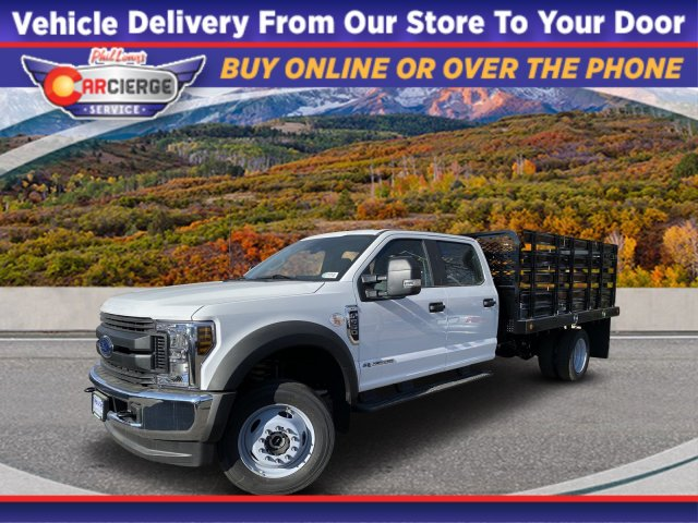 2019 Ford F-550 Crew Cab DRW 4x4, Scelzi Stake Bed #F85534 - photo 1