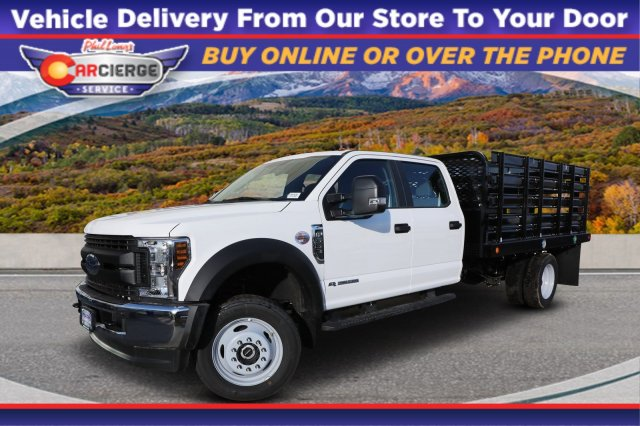 2019 Ford F-550 Crew Cab DRW 4x4, Scelzi Stake Bed #F85535 - photo 1