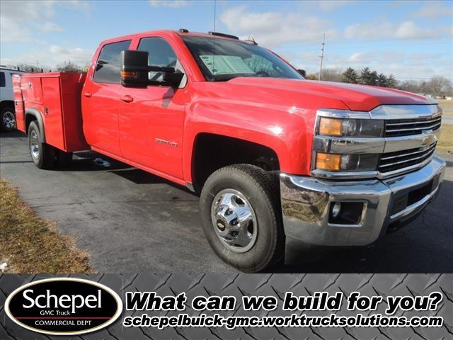 2015 Chevrolet Silverado 3500 Crew Cab DRW 4x4, Monroe Service Body #110168 - photo 1