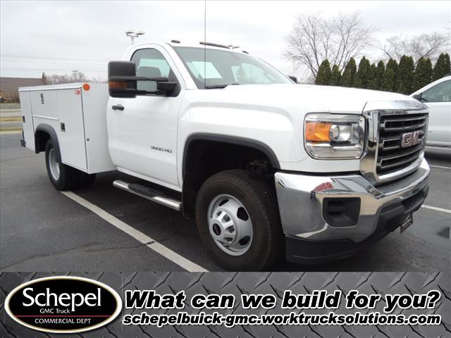 2015 GMC Sierra 3500 Regular Cab DRW 4x4, Monroe Service Body #110344A - photo 1