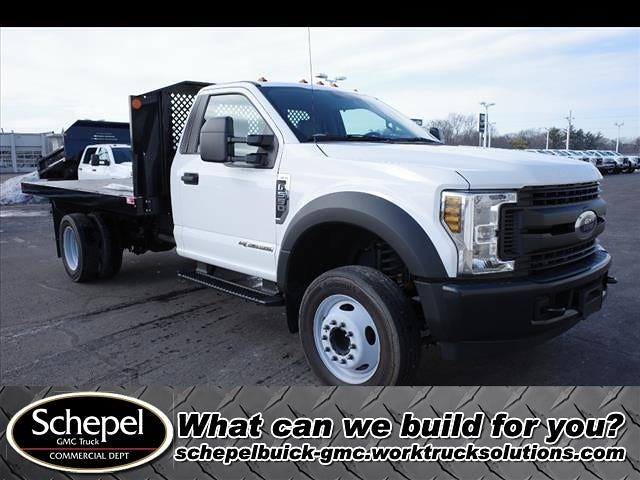 2019 Ford F-550 Regular Cab DRW 4x2, Monroe Work-A-Hauler II Platform Body #111419 - photo 1