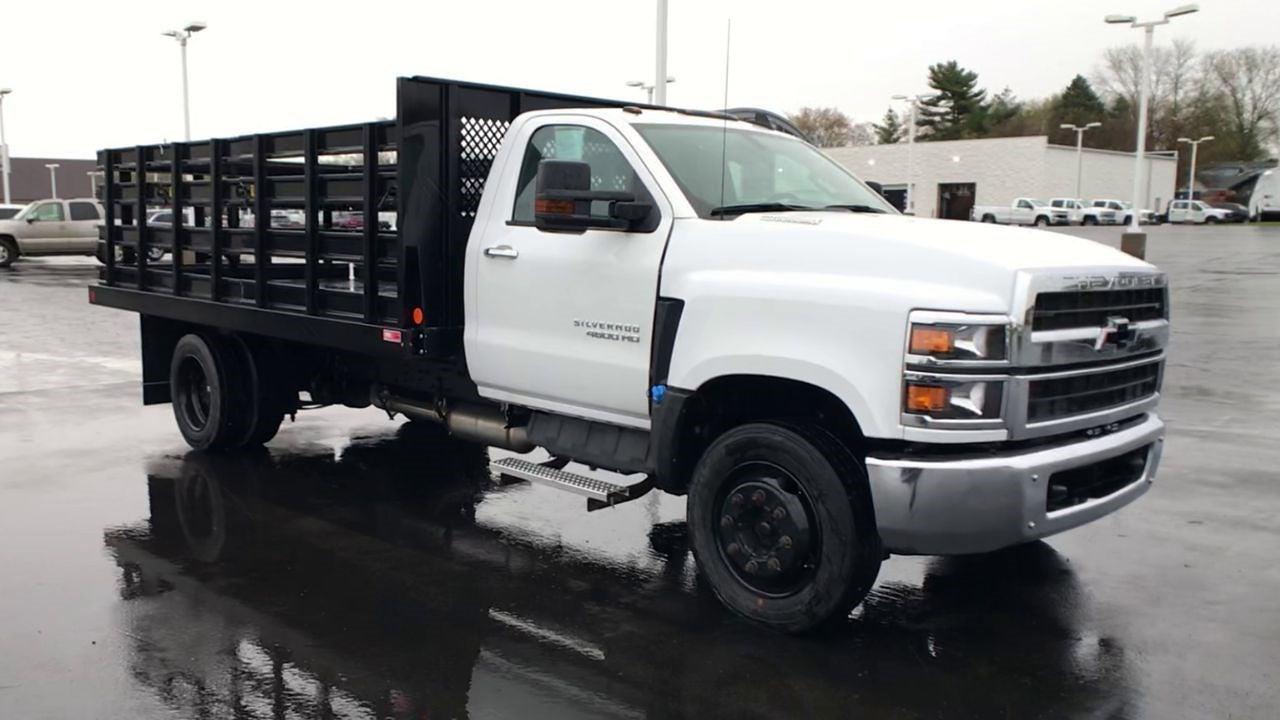 2019 Chevrolet Silverado 4500 Regular Cab DRW 4x2, Monroe Work-A-Hauler II Stake Bed #111715 - photo 3