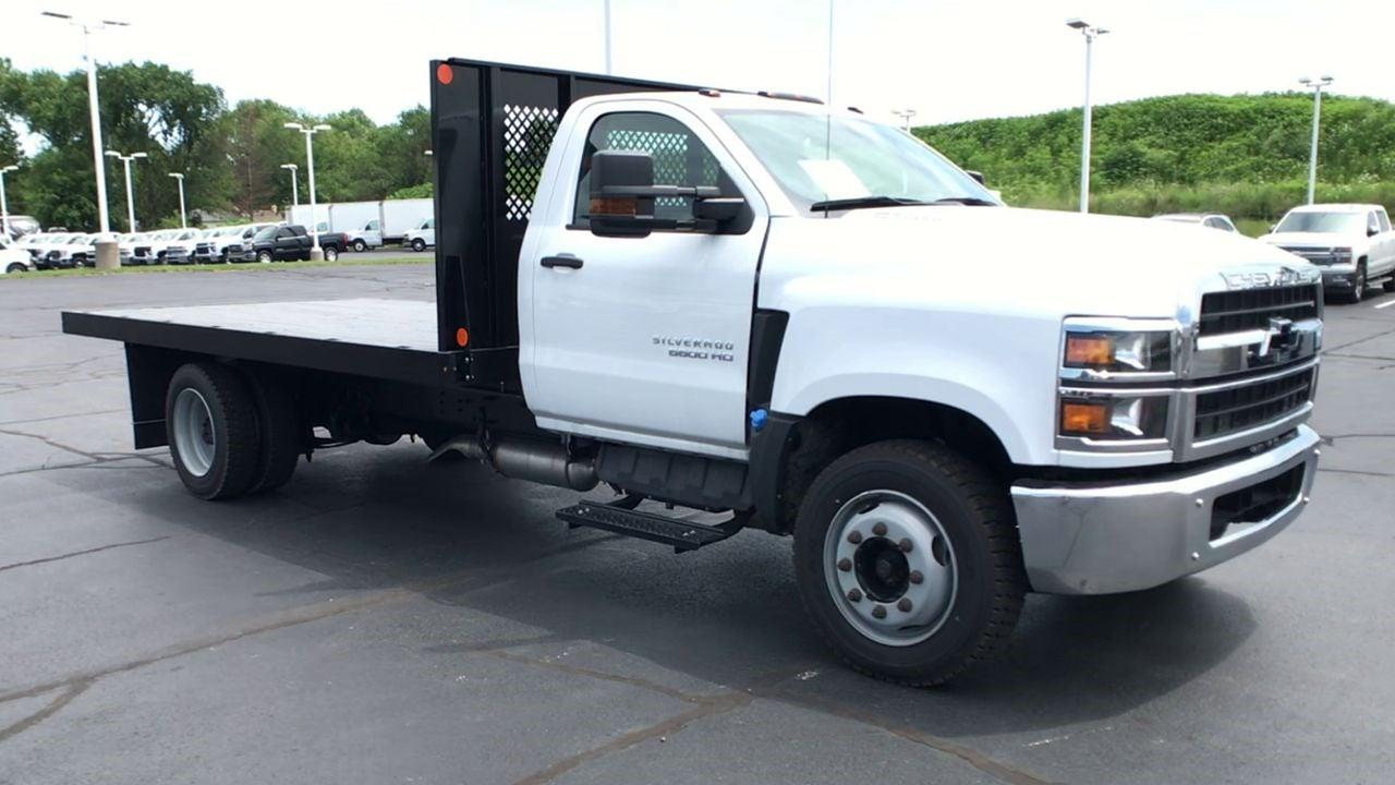 2019 Silverado 5500 Regular Cab DRW 4x2,  Monroe Truck Equipment Work-A-Hauler II Platform Body #111788 - photo 3