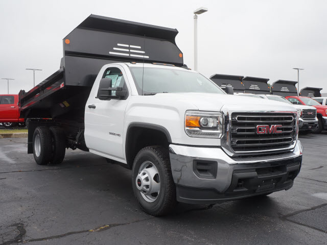 2017 Sierra 3500 Regular Cab DRW 4x4, Monroe MTE-Zee Dump Dump Body #HT166 - photo 3