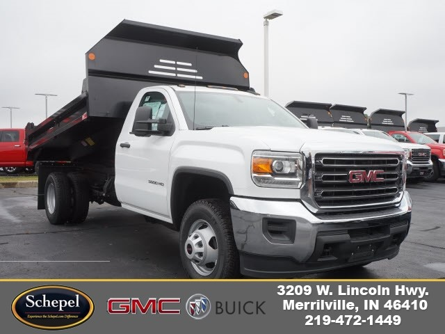 2017 Sierra 3500 Regular Cab DRW 4x4, Monroe MTE-Zee Dump Dump Body #HT166 - photo 1