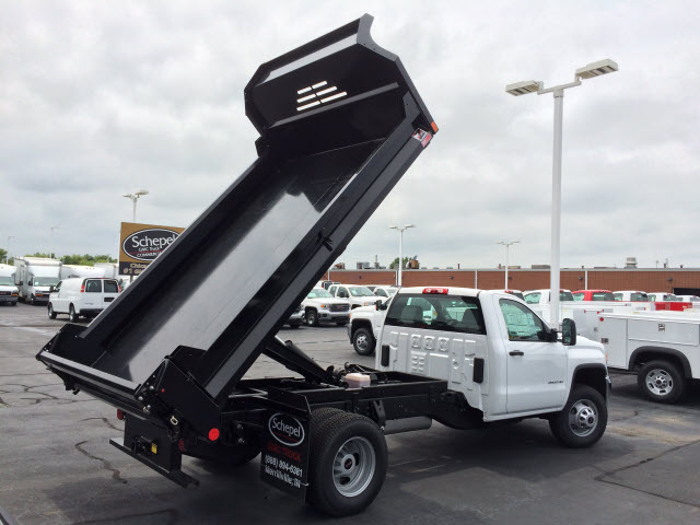 2017 Sierra 3500 Regular Cab DRW 4x4, Monroe MTE-Zee Dump Dump Body #HT5X111 - photo 7