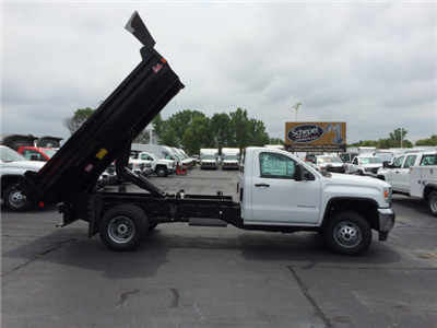 2017 Sierra 3500 Regular Cab DRW 4x4, Monroe MTE-Zee Dump Dump Body #HT5X111 - photo 8
