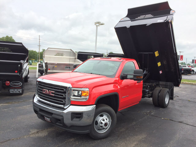 2017 Sierra 3500 Regular Cab DRW, Monroe MTE-Zee Dump Dump Body #HT5X114 - photo 3