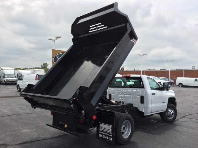 2017 Sierra 3500 Regular Cab DRW 4x4, Dump Body #HT653 - photo 6
