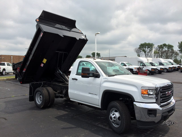 2017 Sierra 3500 Regular Cab DRW 4x4, Dump Body #HT653 - photo 8