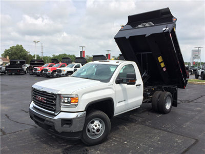 2017 Sierra 3500 Regular Cab DRW 4x4, Dump Body #HT653 - photo 1