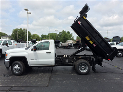2017 Sierra 3500 Regular Cab DRW 4x4, Dump Body #HT653 - photo 4