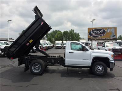 2017 Sierra 3500 Regular Cab DRW 4x4, Dump Body #HT653 - photo 7