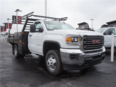 2017 Sierra 3500 Regular Cab DRW 4x4, Contractor Body #HT711 - photo 3