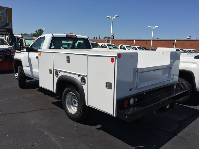 2017 Sierra 3500 Regular Cab DRW 4x4,  Monroe Service Body #HT730 - photo 2