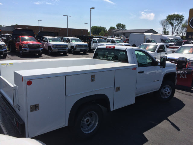 2017 Sierra 3500 Regular Cab DRW 4x4,  Monroe Service Body #HT730 - photo 6