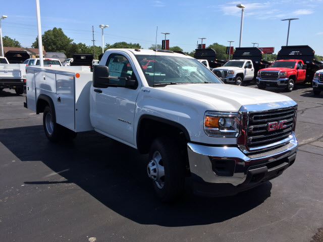 2017 Sierra 3500 Regular Cab DRW 4x4,  Monroe Service Body #HT730 - photo 8