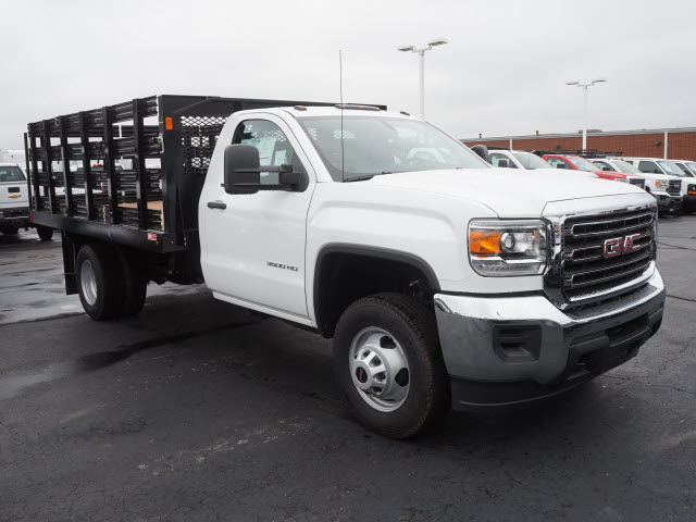 2017 Sierra 3500 Regular Cab DRW, Monroe Stake Bed #HTT832 - photo 3