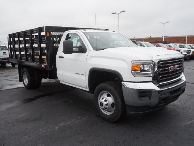 2017 Sierra 3500 Regular Cab DRW, Stake Bed #HTT863 - photo 3