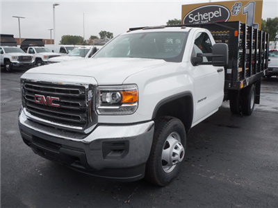 2017 Sierra 3500 Regular Cab DRW, Stake Bed #HTT863 - photo 1