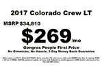 2017 Colorado Crew Cab 4x4, Pickup #C154647 - photo 1