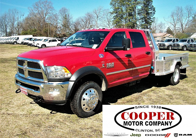 2017 Ram 4500 Crew Cab DRW 4x4,  Platform Body #548106 - photo 1
