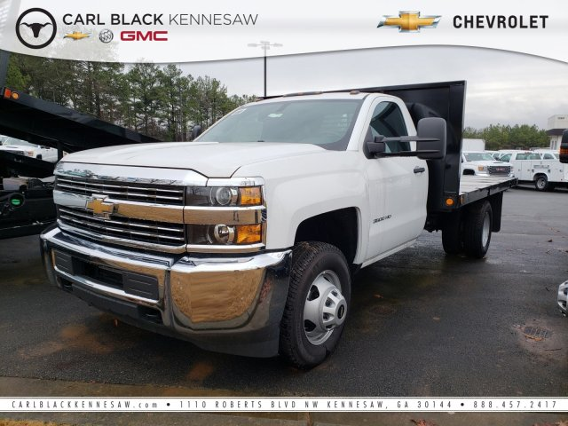 2018 Silverado 3500 Regular Cab DRW 4x4,  Freedom Platform Body #1180377 - photo 1