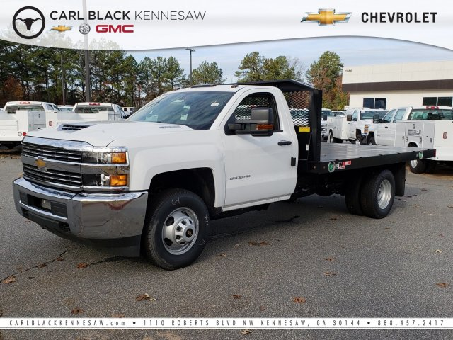 2018 Silverado 3500 Regular Cab DRW 4x4,  Monroe Platform Body #1180911 - photo 1
