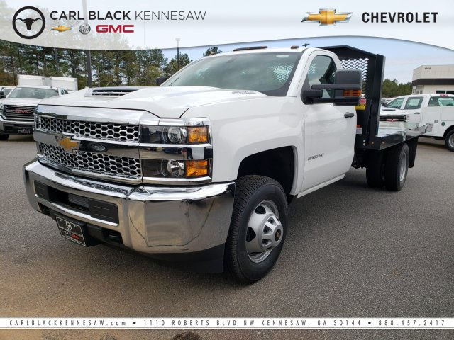 2019 Silverado 3500 Regular Cab DRW 4x4,  Monroe Platform Body #F1190595 - photo 1