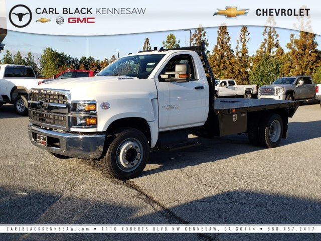 2019 Silverado Medium Duty Regular Cab DRW 4x2, Commercial Truck & Van Equipment Platform Body #M1990086 - photo 1