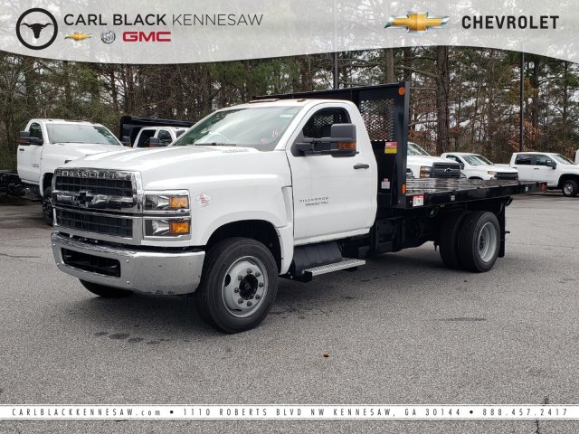 2019 Silverado Medium Duty Regular Cab DRW 4x2, Monroe Work-A-Hauler II Platform Body #M1990135 - photo 1